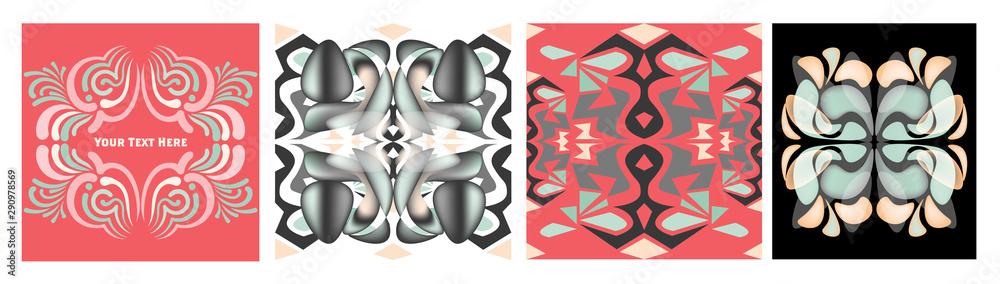 Fototapeta Vector graphic geometric elements and shapes, retro pattern set