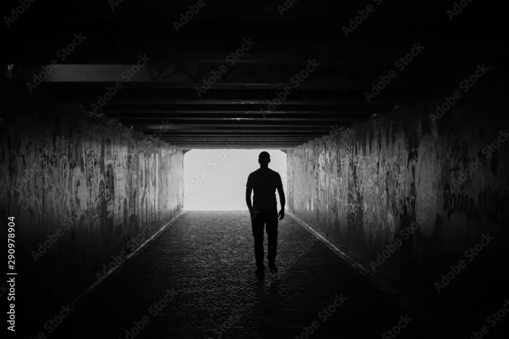 Fototapety, obrazy: silhouette of a man