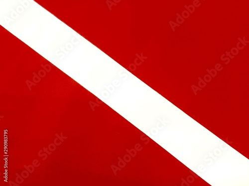Photo Red and white diver down scuba diving flag
