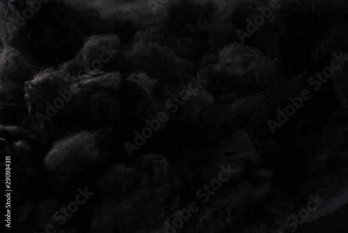 black cotton wool clouds, dark Halloween background Fototapete