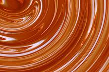 Golden Maple Syrup Swirls Macro Closeup
