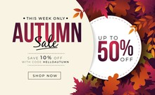 Big Sale Banner With Colorful ...