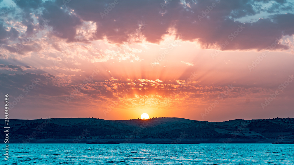 Fototapety, obrazy: coucher de soleil