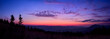 canvas print picture - Colorful skyline over the mountains in early morning before sunrise