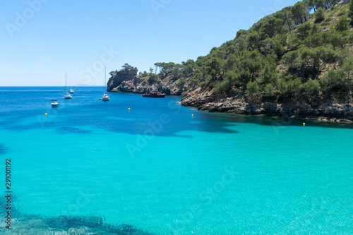 view of Cala Murta Bay in Majorca