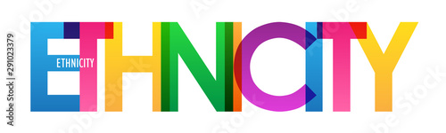 Obraz ETHNICITY colorful rainbow typography banner - fototapety do salonu