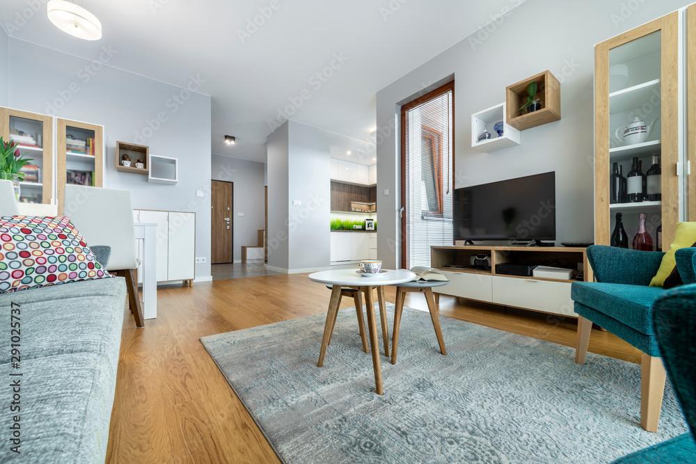 Fototapeta Modern interior design living room
