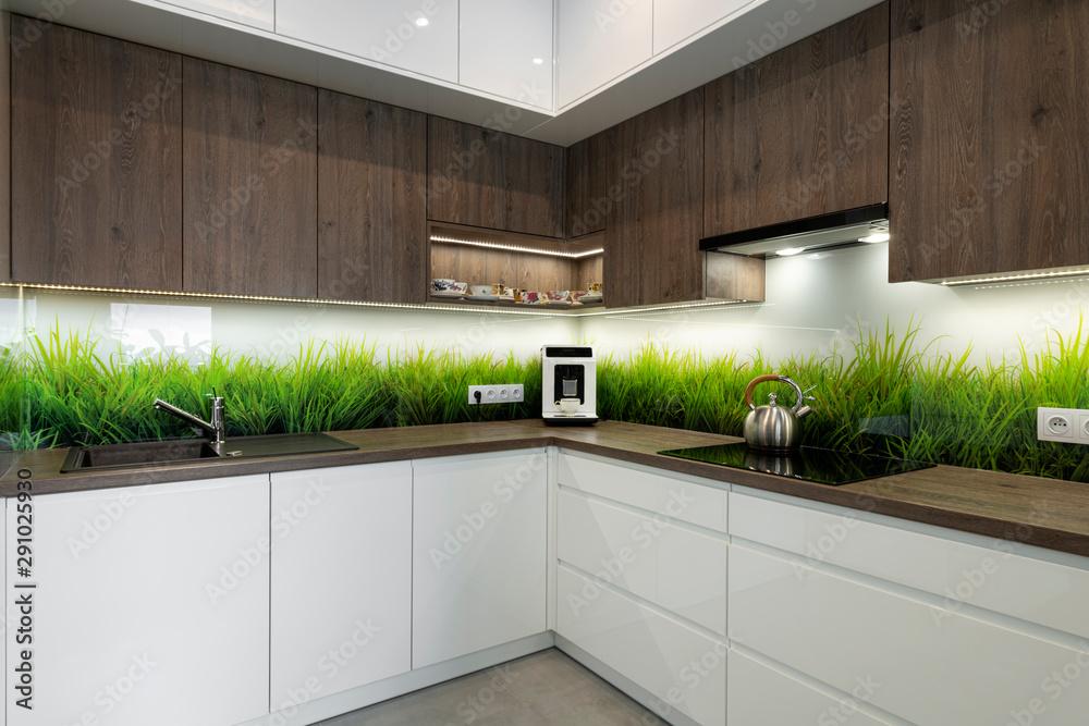 Fototapeta Modern interior design - kitchen
