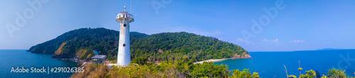 Fotografie, Obraz  Beautiful Lighthouse Sots Peacefully on Peninsula