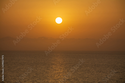 Sunset at in mediterranean Sea, Morocco