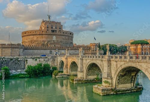 Spoed Foto op Canvas Historisch geb. Castel Sant Angelo