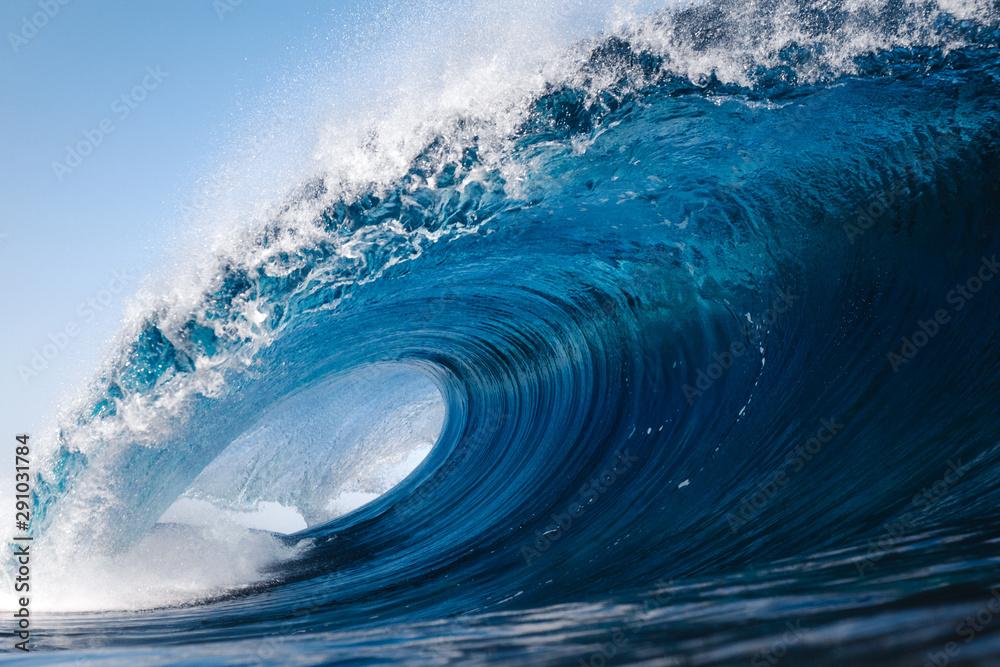 Fototapety, obrazy: Heavy wave breaking on a beach in Spain