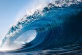 Heavy wave breaking on a beach in Spain