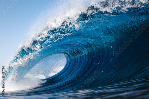 Obraz Heavy wave breaking on a beach in Spain - fototapety do salonu