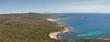 Coastal panoramic landscape, Roccapina, Corsica island, France.