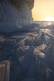 Man over Baikal lake Ice.