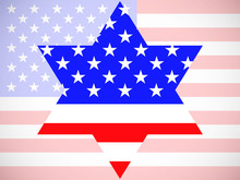 Star Of David With America Fla...