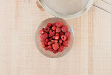 Bowl Of Raspberries, Wild Stra...