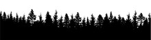 Forest Silhouette. Wood Backgr...