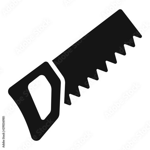 Handsaw or hacksaw icon. Vector illustration Canvas-taulu