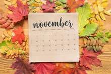 Square Paper Sheet Of November...