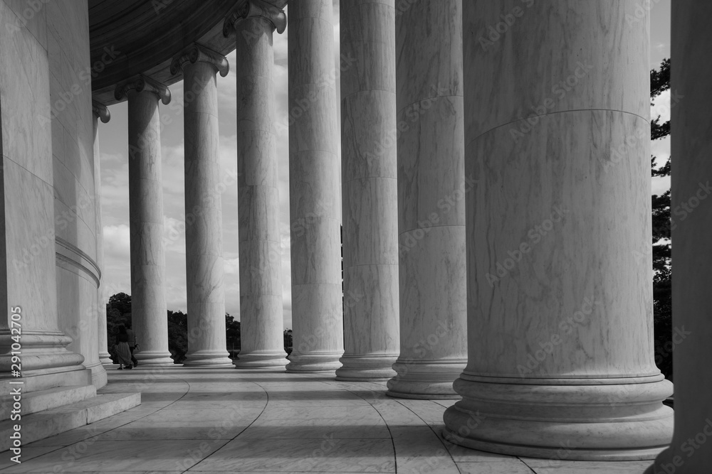 Fototapety, obrazy: Columns outside the Jefferson Memorial in Washington, DC.