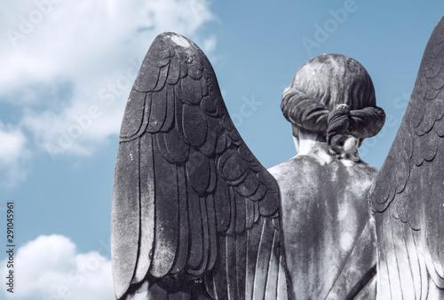 Foto op Canvas Historisch mon. Angel sculpture in a colonial city of Rio de Janeiro State