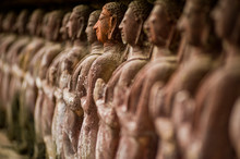 Stone Carved Statues In Sukhothai