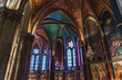 canvas print picture - Gothic Sainte-Marie cathedral in the center of Bayonne in France