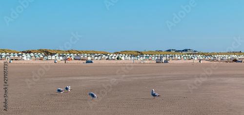 Strandhäuser in IJmuiden Tablou Canvas