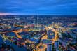 Leinwanddruck Bild - Berlin skyline in the night. Germany