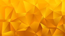 Golden Yellow Triangle Bg For Your Business
