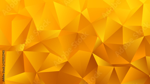 Obraz Golden Yellow Triangle Bg for Your Business - fototapety do salonu