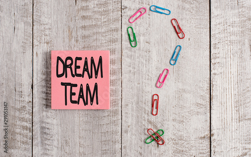 Writing note showing Dream Team Canvas Print