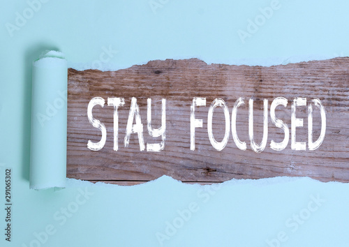 Fotografie, Obraz  Text sign showing Stay Focused
