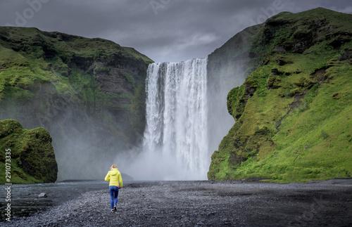 Fototapety, obrazy: Skogafoss waterfall in Summer, Iceland