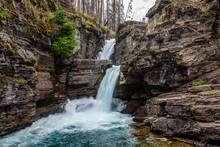 St Mary Falls, Glacier Nationa...