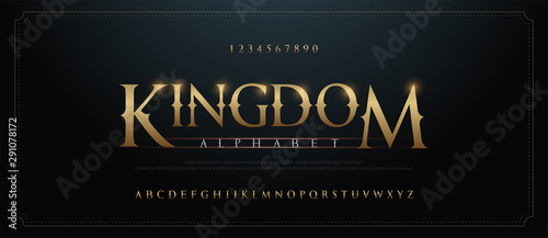 Elegant golden alphabet letters font set Canvas-taulu