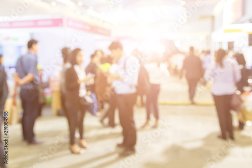 Blurred background of  public exhibition hall Wallpaper Mural