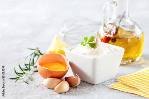 Photo Garlic sauce Aioli