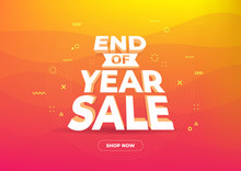 End Of Year Sale Banner. Sale ...