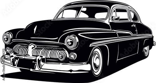 Klasyczny wektor retro vintage niestandardowy projekt samochodu