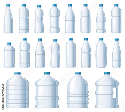 Plastic bottles Billede på lærred