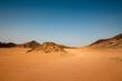 Wüstenlndschaft mit blauem Himmel