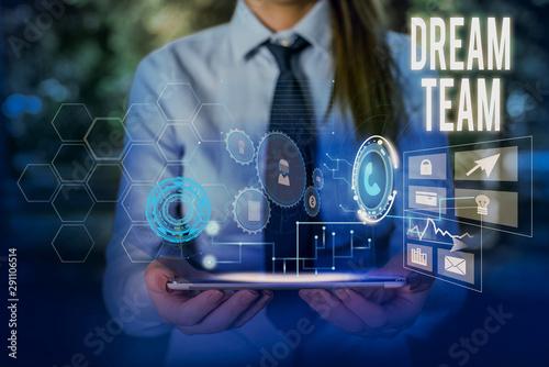 Fotografie, Obraz Writing note showing Dream Team