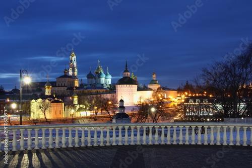Fotografie, Tablou  Sergiev Posad Moscow area, famous Troitse Sergieva lavra church and observation