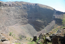 Crater Of The Vesuvius Volcano...