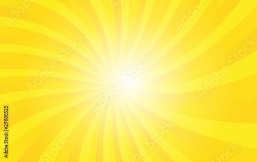 Yellow sunshine vector background Fotobehang