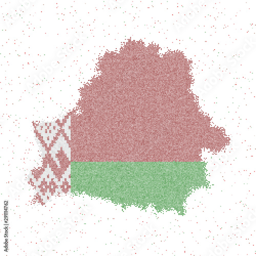 Obraz na plátně Map of Belarus