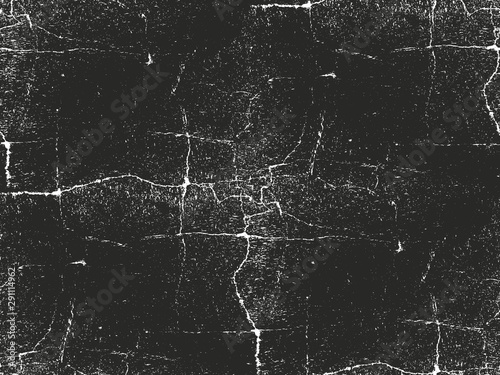Fototapeta  Distressed overlay texture of cracked concrete